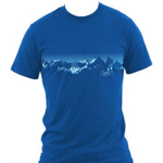 Fly the mountain Tshirt Blue